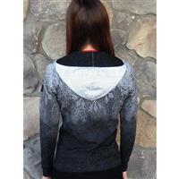 Black / White Newland Norwegian Hooded Full Zip Sweater Womens