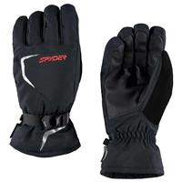 Black / Black / Volcano Spyder Traverse Gore Tex Gloves Mens