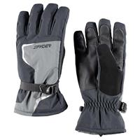 Black / Polar / Black Spyder Traverse Gore Tex Gloves Mens