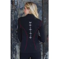 Alp-N-Rock Cross Stitch Zip Up - Women's - Black