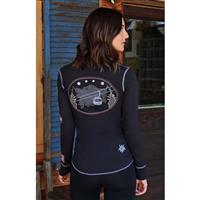 Black Alp N Rock Ski Lift Henley Womens