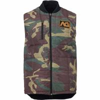 True Black /Surplus Camo Analog Divest Reversible Vest Mens