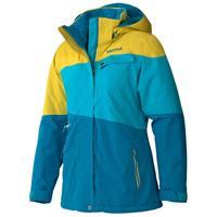 Aqua Blue/Yellow Vapor Marmot Moonshot Jacket Womens