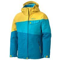 Aqua Blue/Yellow Vapor Marmot Moonstruck Jacket Girls