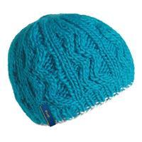 Aqua Turtle Fur Zip Zip Hat Womens