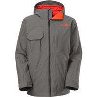 Asphalt Grey Heather Ripstop The North Face Hoodman Triclimate Jacket Mens