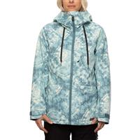 686 Athena Insulated Jacket - Women's - Goblin Blue Woodstock Print