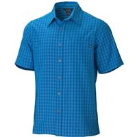Azure Blue Marmot Eldridge SS Shirt Mens