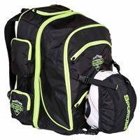 Black / Green SporTube Overheader Padded Gear and Boot Backpack