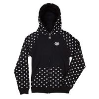 Black 686 Flake Zip Hoody Girls