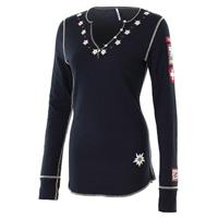 Black Alp N Rock Edelweiss II Henley Shirt Womens