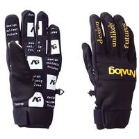 Black Analog Avatar Gloves Mens