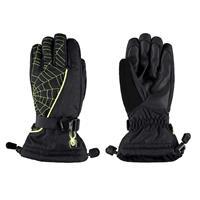 Black / Bryte Yellow Spyder Overweb Gloves Boys