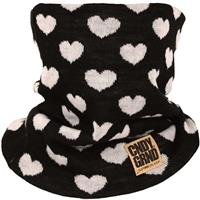 Black CandyGrind Heart Knitted Neck Gaiter Womens
