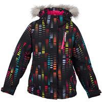 Black Cascade Print Spyder Lola Jacket Girls