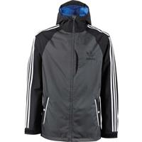 Black Dark Grey Adidas 3 Stripe Jacket Mens