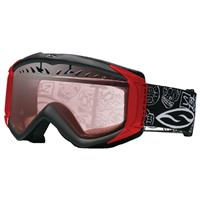 Black Day of The Dead Frame with Red Mirror Lens Smith Fuse Regulator Goggle