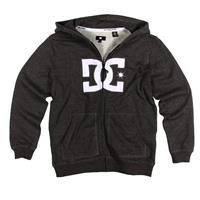 Black DC Crosley Premium Full Zip Fleece Hoody Boys