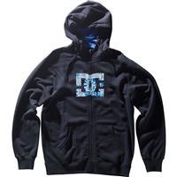 Black DC MLF Star Zip Hoodie Mens