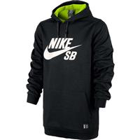 Black Heather Nike Ration Pullover Hoodie Mens