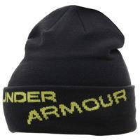 Black / Lima Bean Under Armour Ski Hat Mens