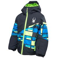 Black/Mantis Green City Lights/Mantis Green Spyder Mini Ambush Jacket Boys
