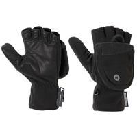 Black Marmot Windstopper Convertible Gloves Mens