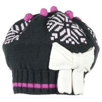 Black Obermeyer Snowflake Knit Beret Girls