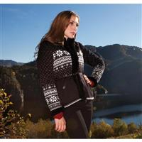 Black / Off White / Metal Grey Dale Of Norway Dronningen Sweater Womens