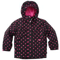 Black / Pink Flora Dots Roxy Mini Jet Jacket Preschool Girls