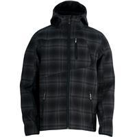 Black Plaid Spyder Patsch Novelty Hoody Soft Shell Jacket Mens