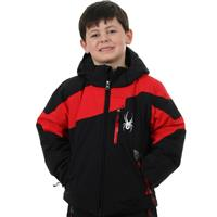 Black / Red / Black Spyder Mini Leader Jacket Boys