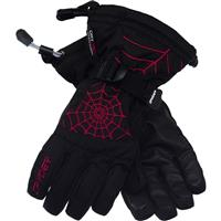 Black / Red Spyder Over Web Gloves Boys