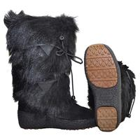 Black Regina Anna Boots Womens Side and Sole