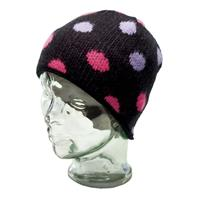 Black Ride Dots Beanie Girls