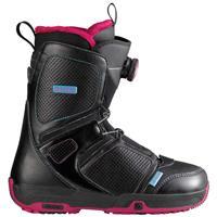 Black Salomon Pearl Boa Snowboard Boots Womens