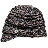 Black Screamer Danica Billed Beanie Womens