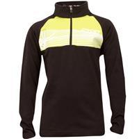 Black / Sharp Lime Spyder Racer Cotton T Neck Boys