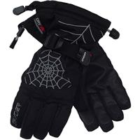 Black / Smoked Spyder Over Web Gloves Boys