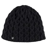Black Spyder Cable Hat Womens