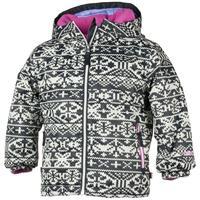 Black / Sweater Print Obermeyer Serenity Jacket Girls