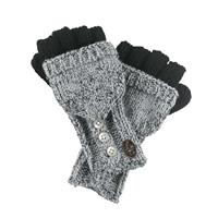 Black Turtle Fur Giselle Convertible Mittens Womens
