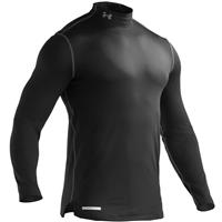 Black Under Armour Evo Coldgear Fitted Mock Top Mens