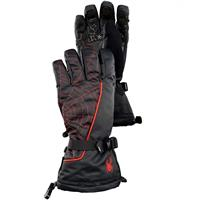 Black/Volcano Spyder Overweb Gloves Mens