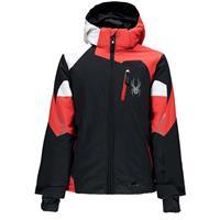 Black / Volcano / White Spyder Leader Jacket Boys
