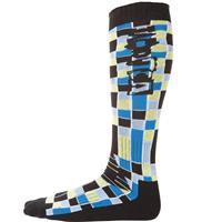 Black Volcom Blocks Acrylic Sock Mens