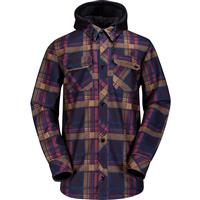 Black Volcom Hood Flannel Mens