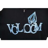 Black Volcom Twirla Wont Basic Hoodie Mens
