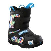 Black / White / Multi Burton Grom Snowboard Boots Youth