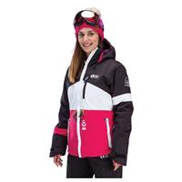 Black White Pink Picture Organic Clothing Time Jacket Womens